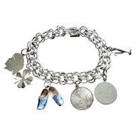 Sterling Silver 925 Charm Bracelet - Ca.1960