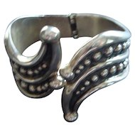 Sterling Hinged Cuff Bracelet - Mexico