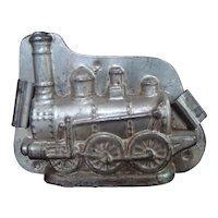 Antique Tin Chocolate Mold-Steam Locomotive #9954