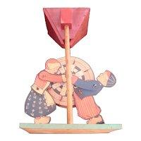 Early Wyandotte Litho/Wood Sand Toy