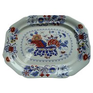19th Century Gaudy Ironstone Platter