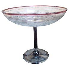"""Pairpoint Glass Compote Circa 1920 """"Waterford"""""""
