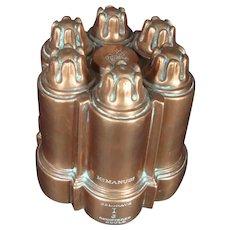 Antique Copper Jelly Mold - Belgrave Design Circa 1850