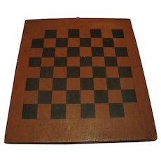 Primitive Red and Black Checker Board