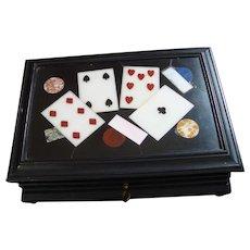 Vintage Petra Dura Playing Card Box