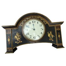 Chinoiserie Mantle Clock - Retailed by W Hathaway N.Y.C.