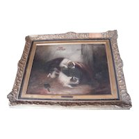 19th Century Oil On Board - George Armfield 1803-1893- Terriers Ratting