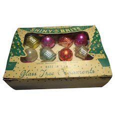 Boxed Set of 12 Christmas Ornaments - Shiny Brites