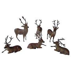 German Metal Putz Christmas Deer-6