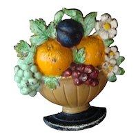 Basket of Flowers Doorstop No. 456-Hubley