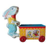 J. Chein Tin Bunny with Cart