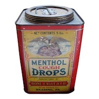 Menthol Cough Drops - Early Tin