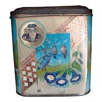 Alphonse Mucha Art Nouveau Large Confectionary Tin