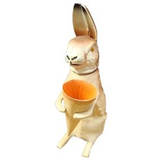 Large Papier Mache Rabbit Candy Container
