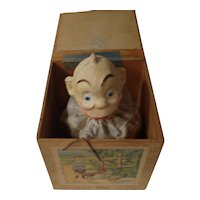 "Early ""Snookums"" Jack-in-the Box Toy"