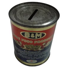 B & M Brick oven Baked Beans Tin Money Bank