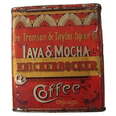 knickerbocker Coffee Tin