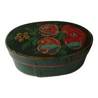 Antique Oval Primitive Painted Box