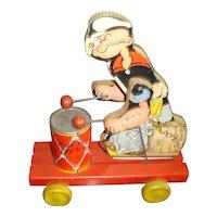 Fisher Price Popeye Pull Toy #491