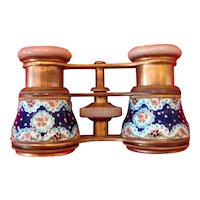 French Opera Glasses - Enameled with Jewels - La Reine Paris