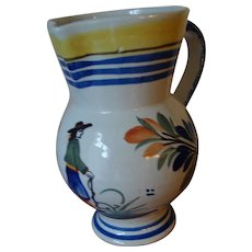 Quimper Pitcher - Red Tag Sale Item
