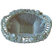 Irish Belleek Sydenham Twig Basket - Early Mark