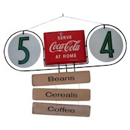 Double Sided Hanging Coca Cola Sign