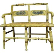 Hitchcock Type Child's Painted Settee