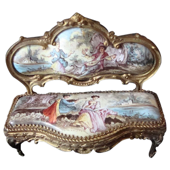 Royal Vienna Bronze Miniature Settee