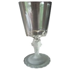 EAPG Frosted Lion Goblet