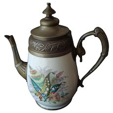 Antique Enamelware/Granitware Coffee Pot
