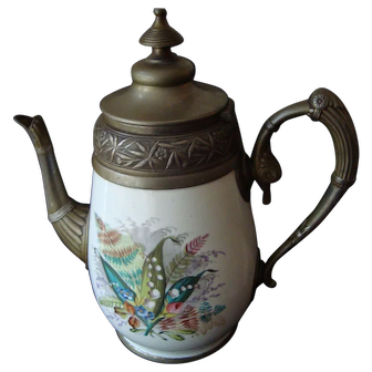 Vintage  Enamelware Coffee Pot