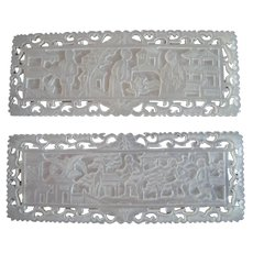 Early Chinese Mother Of Pearl Gambling Chips