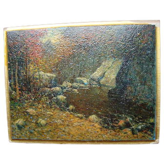Oil on Board - Vivian Milner Akers (1886-1966) Maine Artist
