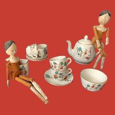 A very rare Dutch Doll's tea set, circa 1900