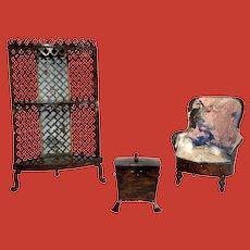 Rock & Graner dollhouse furniture, circa 1870