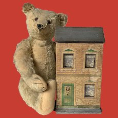"""A miniature 10"""" high dollhouse"""
