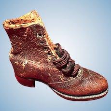 A rare set of single shoes