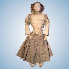 An early paper mache doll type Pauline