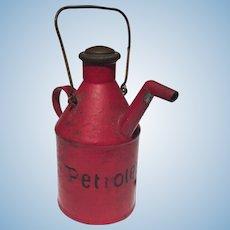 A Märklin tinplate dollhouse oil can