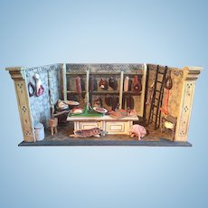 A fine and small Moritz Gottschalk miniature butcher shop