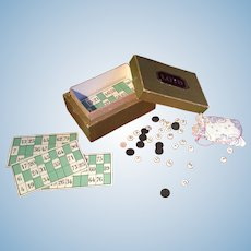 A miniature French loto game