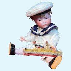 """A very sweet 7 1/2"""" Kämmer & Reinhardt 101 character sailor boy """"Peter"""""""