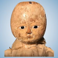 A sweet 18th Century wooden doll