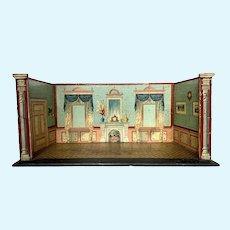 A beautiful paper litho room box, German, circa 1890