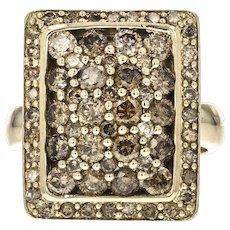 10KT 1.90 Carat Total Weight Brown Diamond Cluster Ring