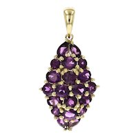 10KT 5.50 Carat Total Weight Purple Garnet Pendant