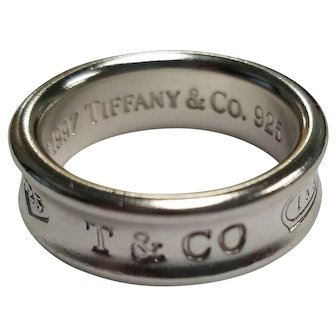 Tiffany & Co. Sterling Silver 1837 Wedding Band