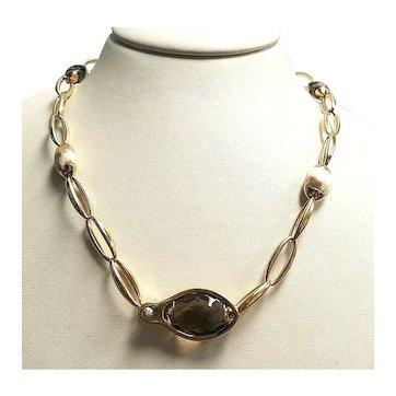 Chimento 18K Gold Accordi Collection Smokey Quartz Necklace