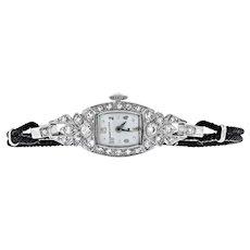 Vintage Platinum Hamilton Diamond Watch